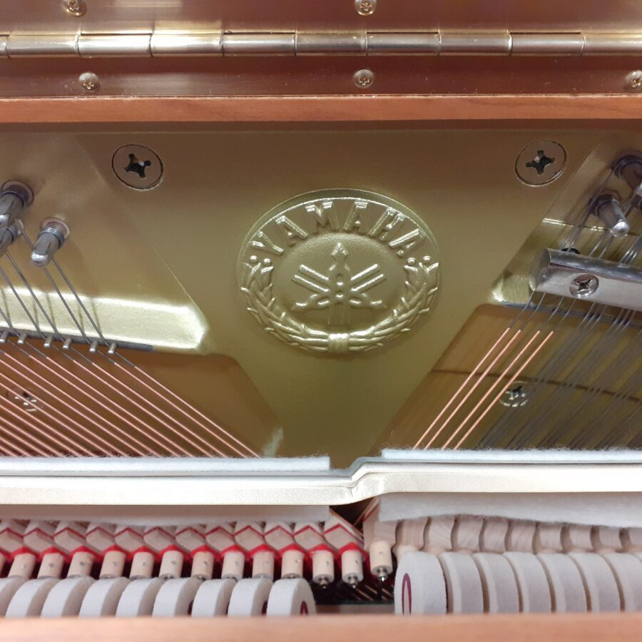 Yamaha P121 NT Upright Piano, SNC frame emblem