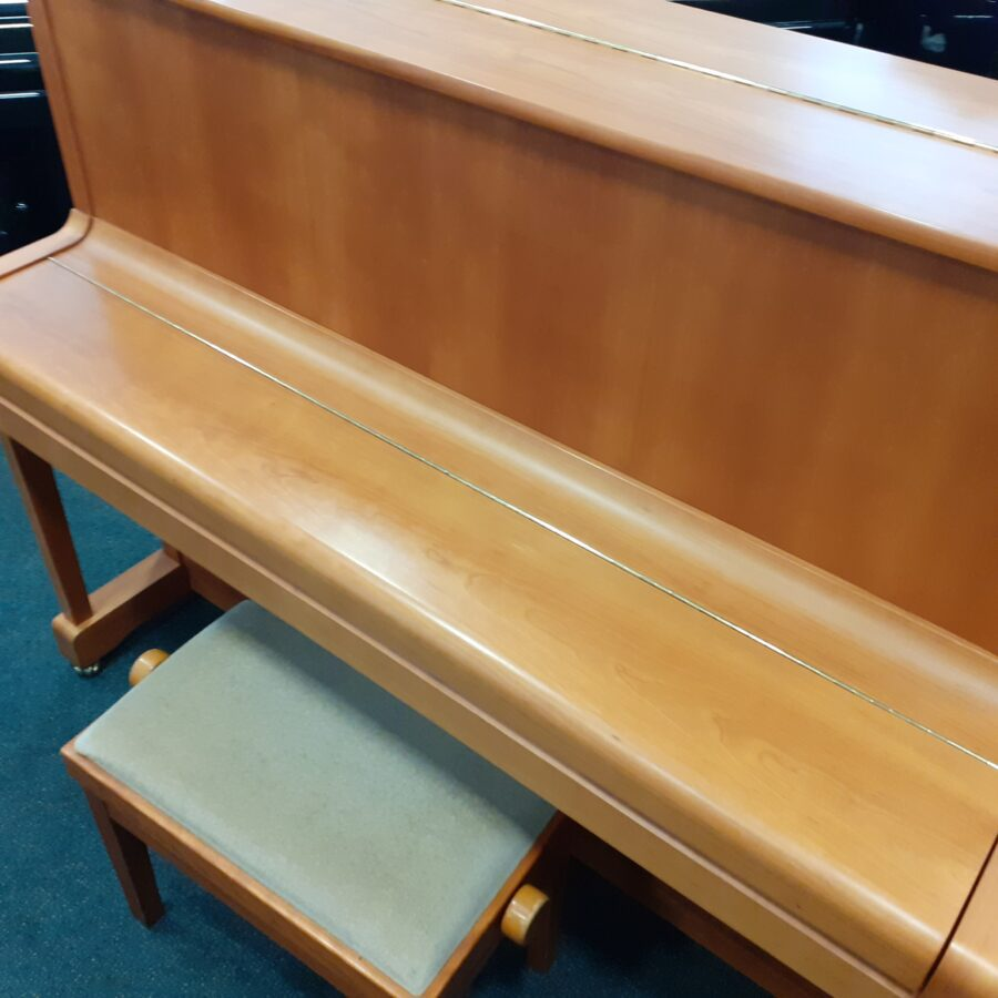 Yamaha P121 NT Upright Piano, SNC fall closed, overview
