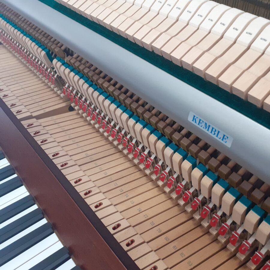Kemble Cambridge 15 Upright Piano - Mahogany - action