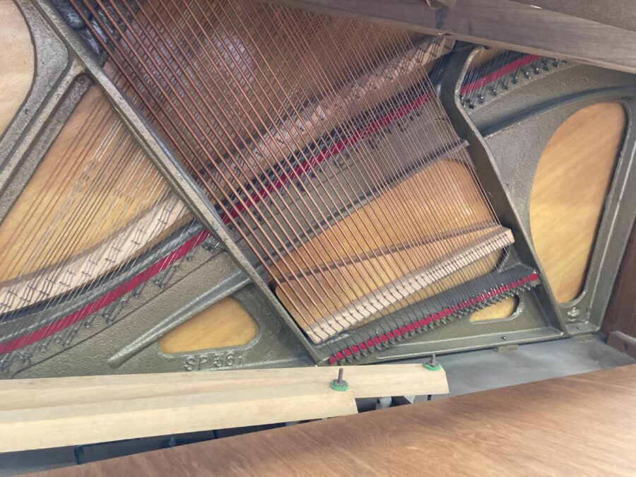 Bentley upright piano - frame, bridges, soundboard