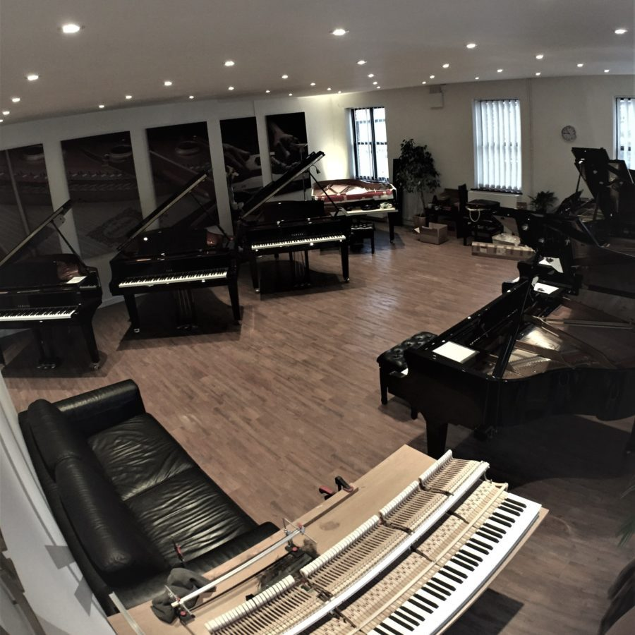 Grand Piano Hall - our main room for larger Grand Pianos